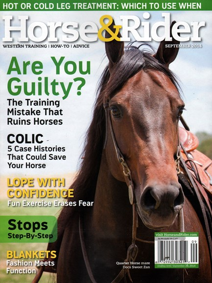 Horse & Rider Cover - 9/1/2014