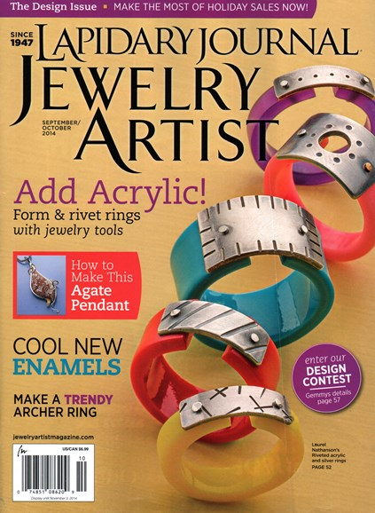 Lapidary Journal Jewelry Artist Cover - 9/1/2014