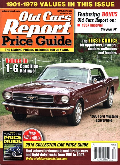 Old Cars Report Price Guide Cover - 9/1/2014