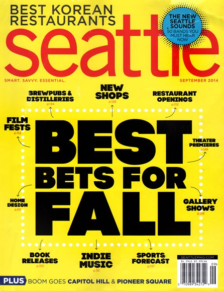 Seattle Magazine Cover - 9/1/2014