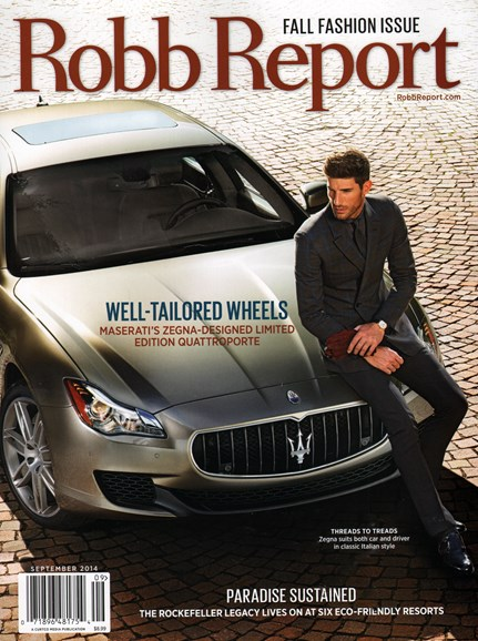 Robb Report Cover - 9/1/2014