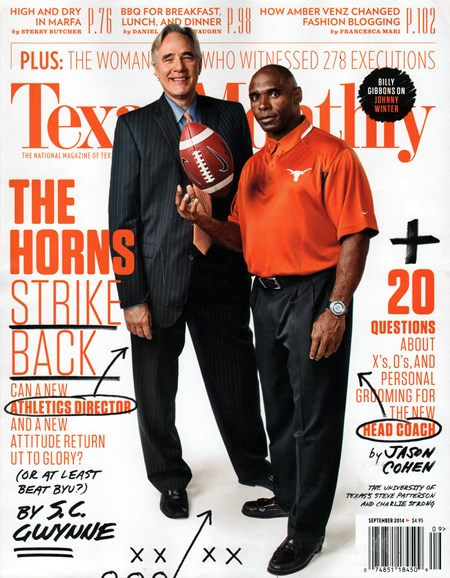 Texas Monthly Cover - 9/1/2014
