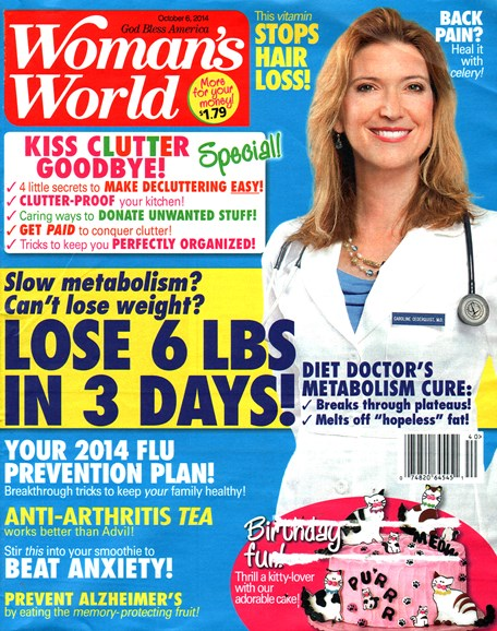 Woman's World Cover - 10/6/2014