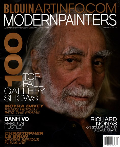 Blouin Modern Painters Cover - 9/1/2014