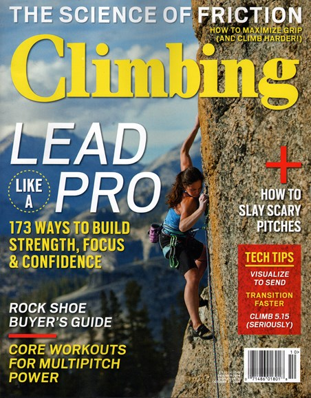 Climbing Magazine Cover - 10/1/2014