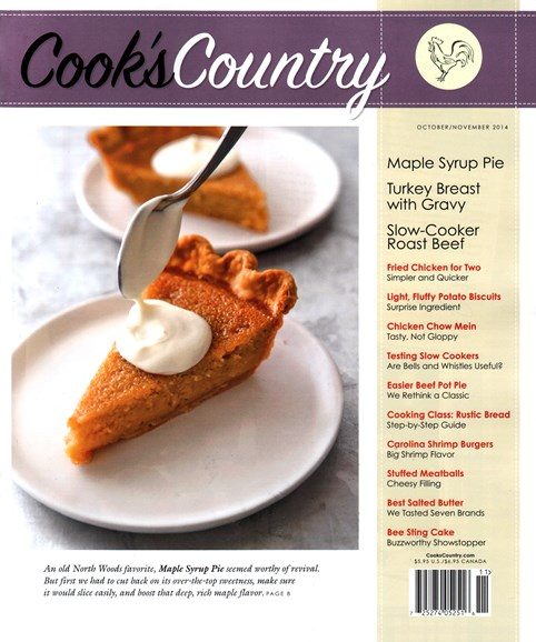 Cook's Country Cover - 10/1/2014