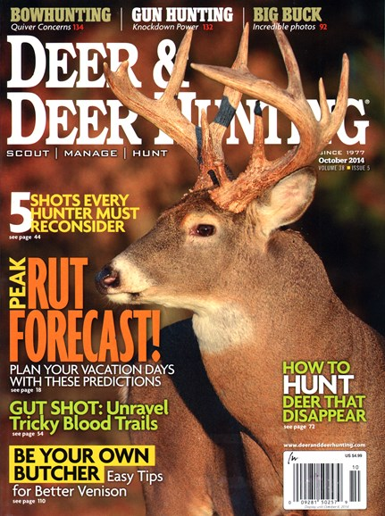 Deer & Deer Hunting Cover - 10/1/2014