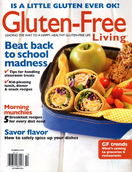 Gluten-Free Living Cover - 10/1/2014