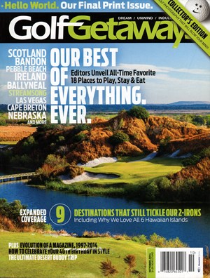 Golf Getaways Magazine | 10/1/2014 Cover