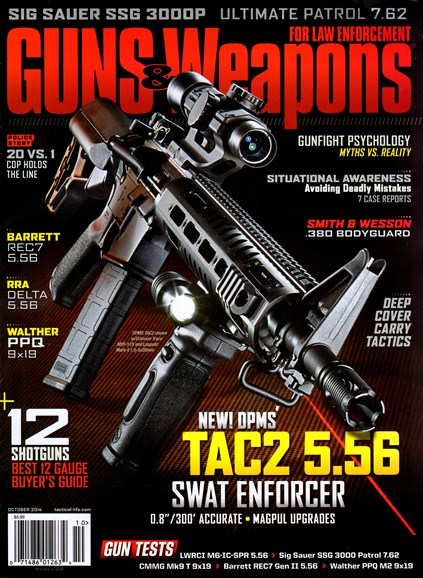Guns & Weapons For Law Enforcement Cover - 10/1/2014