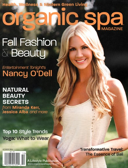 Organic Spa Cover - 10/1/2014