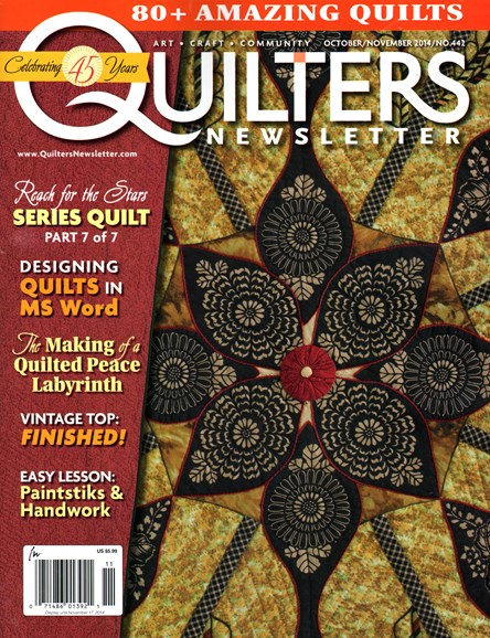 Quilter's Newsletter Cover - 10/1/2014