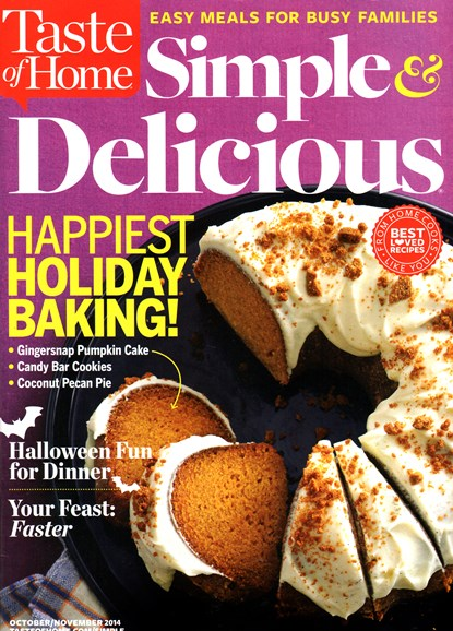Simple & Delicious Cover - 10/1/2014