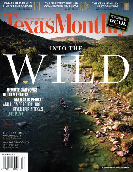 Texas Monthly Cover - 10/1/2014