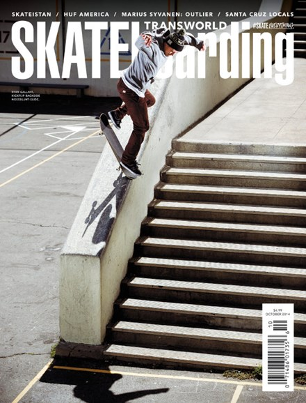 Transworld SKATEboarding Cover - 10/1/2014