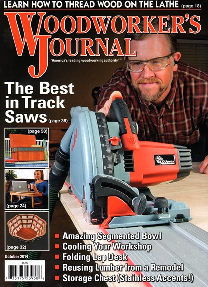 Woodworker's Journal Cover - 10/1/2014
