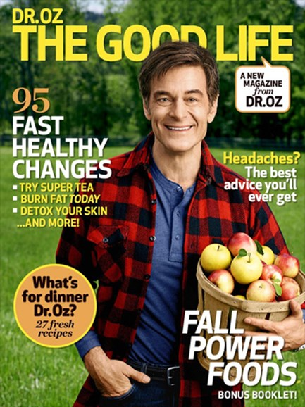 Dr. Oz The Good Life Cover - 10/1/2014