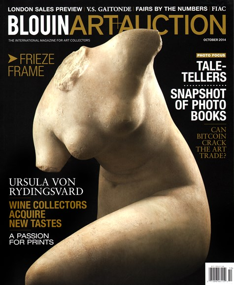 Blouin Art & Auction Cover - 10/1/2014