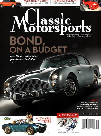 Classic Motorsports Cover - 11/1/2014