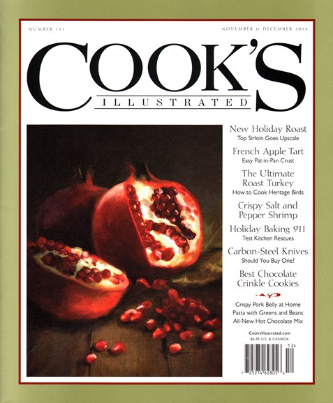 Cook's Illustrated Cover - 11/1/2014