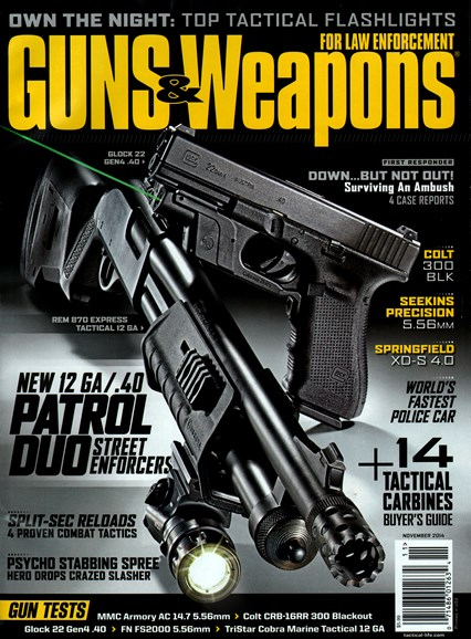 Guns & Weapons For Law Enforcement Cover - 11/1/2014