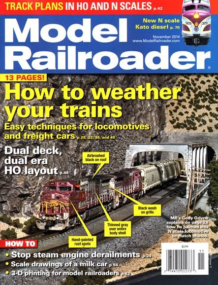 Model Railroader Cover - 11/1/2014