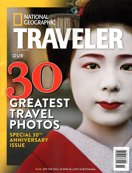 National Geographic Traveler Cover - 11/1/2014