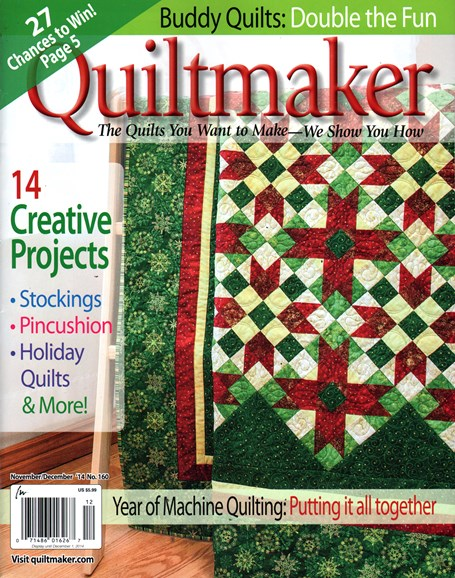 Quiltmaker Cover - 11/1/2014