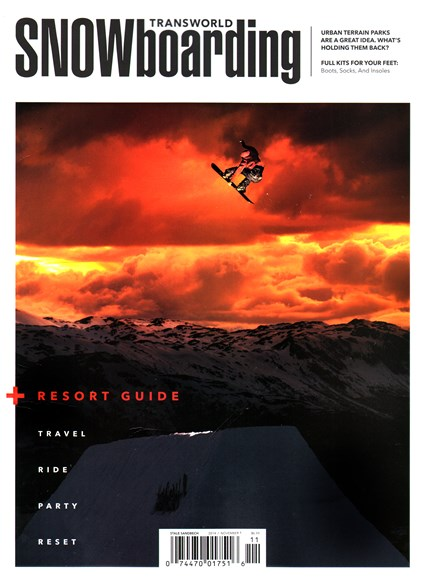 Transworld SNOWboarding Cover - 11/1/2014