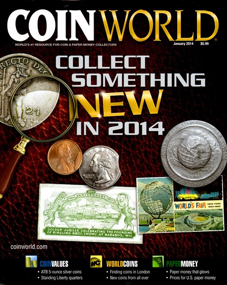 Coin World Monthly Cover - 1/1/2014