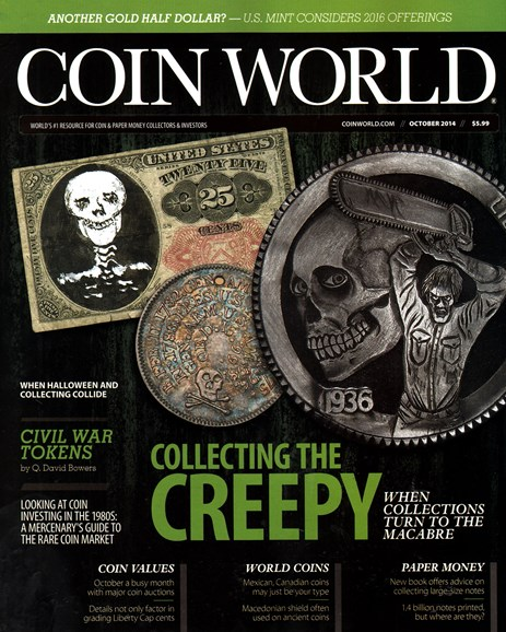Coin World Monthly Cover - 10/1/2014