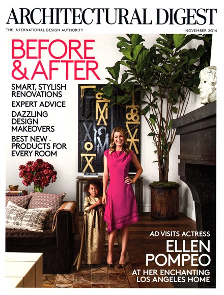 Architectural Digest Cover - 11/1/2014
