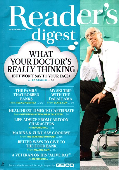 Reader's Digest Cover - 11/1/2014