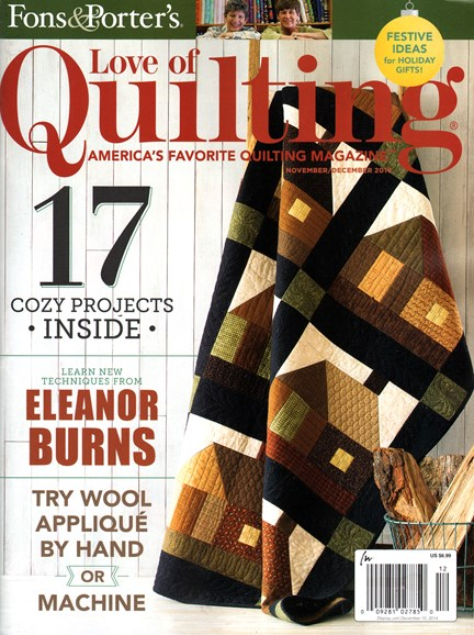 Fons & Porter's Love of Quilting Cover - 11/1/2014