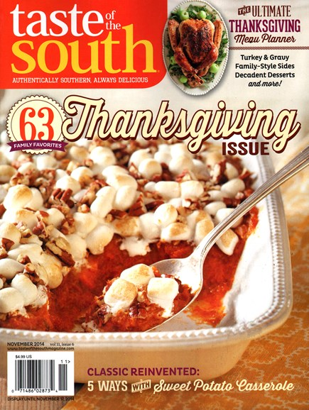 Taste of the South Cover - 11/1/2014