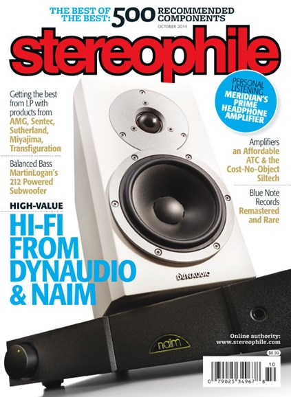 Stereophile Cover - 10/1/2014