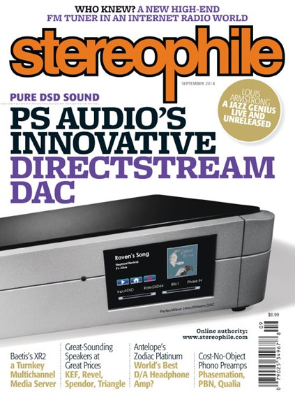 Stereophile Cover - 9/1/2014
