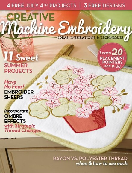 Creative Machine Embroidery Cover - 7/1/2014