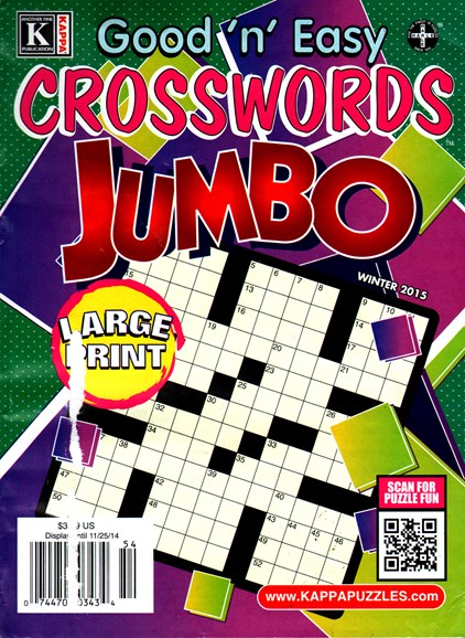 Good N Easy Crosswords Jumbo Cover - 12/1/2014