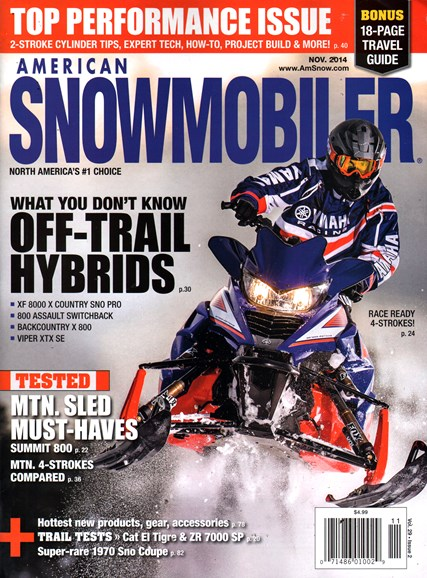 American Snowmobiler Cover - 11/1/2014