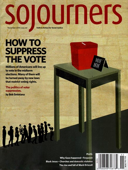 Sojourners Cover - 11/1/2014