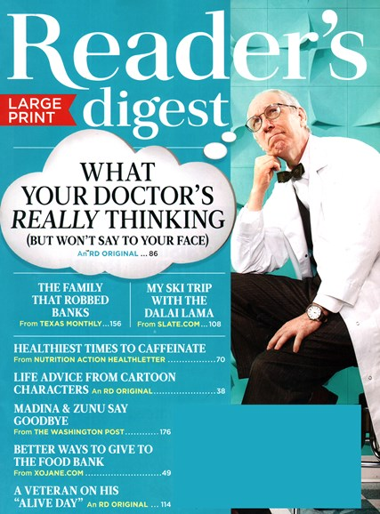 Reader's Digest - Large Print Edition Cover - 11/1/2014