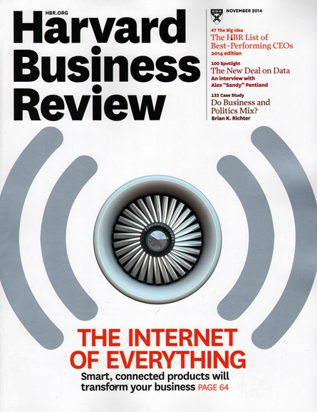 Harvard Business Review Cover - 11/1/2014