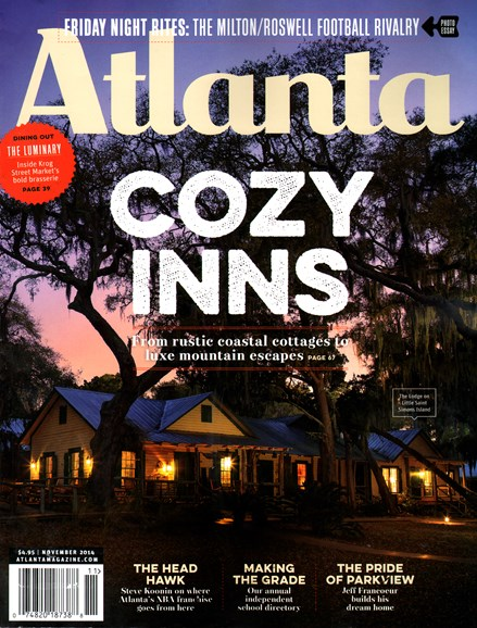 Atlanta Magazine Cover - 11/1/2014
