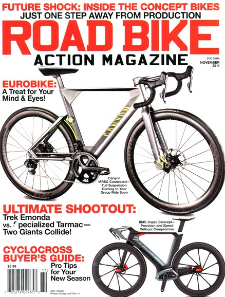 Road Bike Action Cover - 11/1/2014