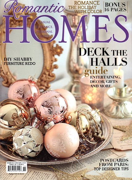 Romantic Homes Cover - 11/1/2014