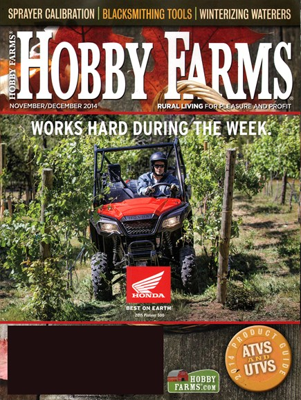 Hobby Farms Cover - 11/1/2014
