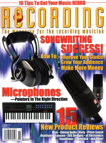 Recording Magazine Cover - 11/1/2014