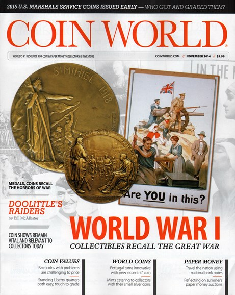 Coin World Monthly Cover - 11/1/2014