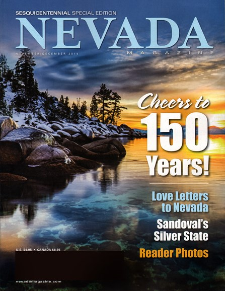 Nevada Magazine Cover - 11/1/2014